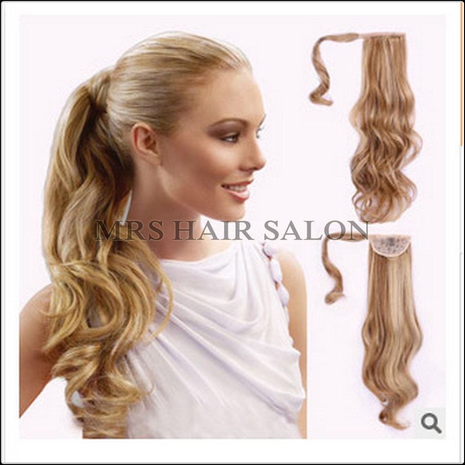 22inch Ponytail Hairpieces Braid Curly Synthetic Hair Ponytail Clip