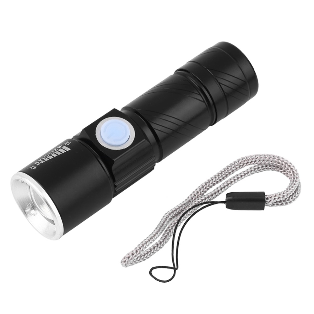 Hot 2000LM Super Bright Q5 LED Tactical Rechargeable Waterproof USB Flashlight Torch Zoom Adjustable