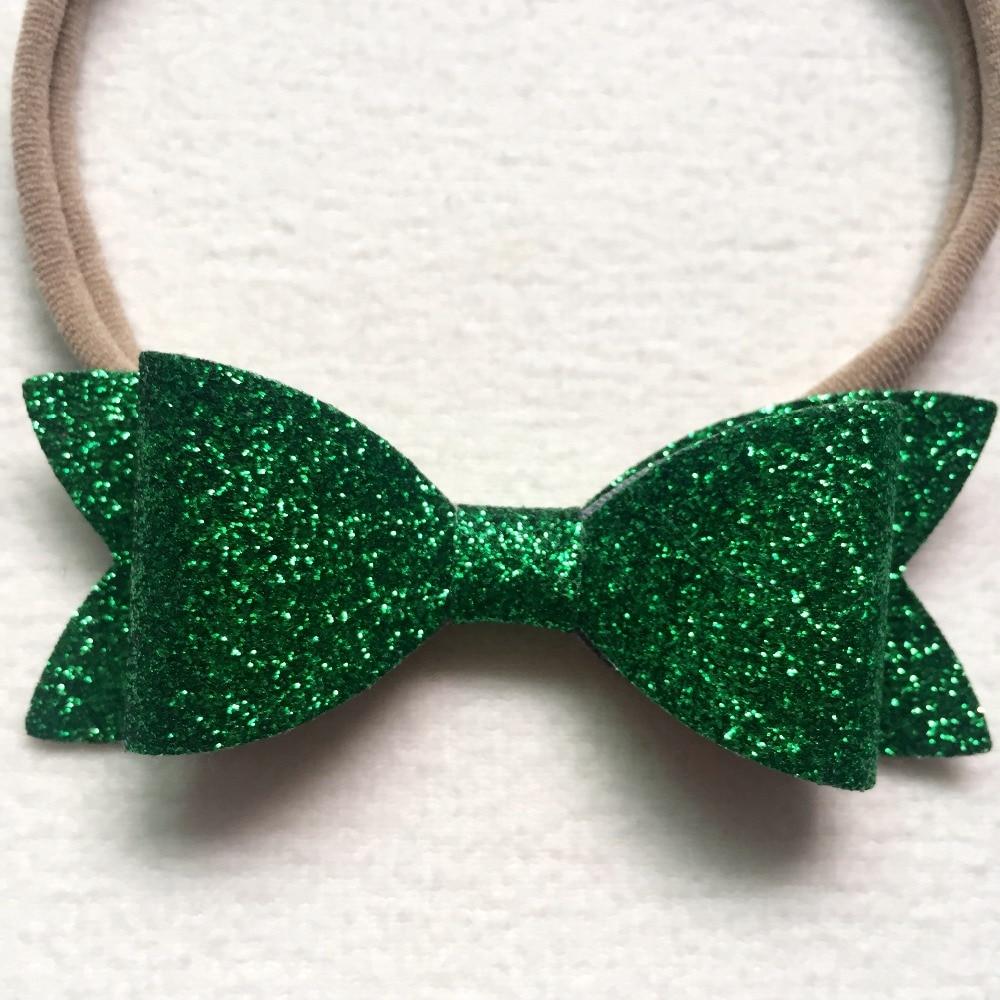 Baby nylon hoofdbanden Kerstcadeaus voor meisjes pailletten Bow - Babykleding - Foto 3
