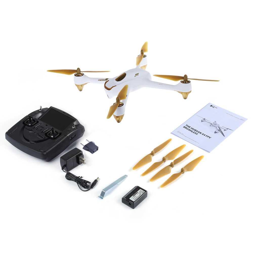Hubsan H501S X4 RC quadrirotor 2.4 GHz 6 axes gyroscope 10CH 5.8G FPV Drones sans brosse 1080 P HD caméra GPS Drone Dron suivez-moi Mode