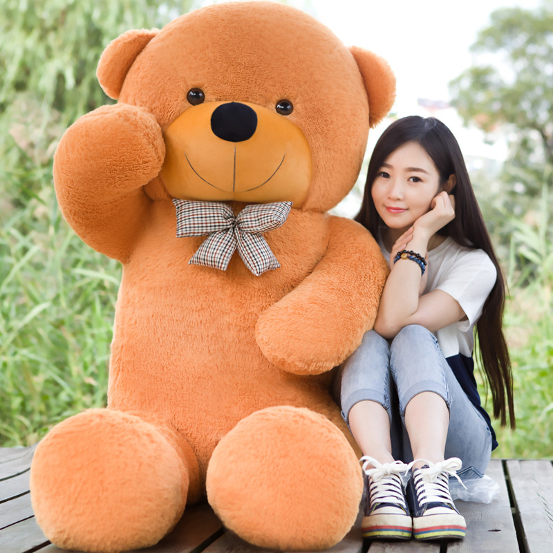 2018 New arrival 220CM/2.2M 5KG purple giant teddy bear plush stuffed animals kid baby dolls life size teddy bear Free Shipping