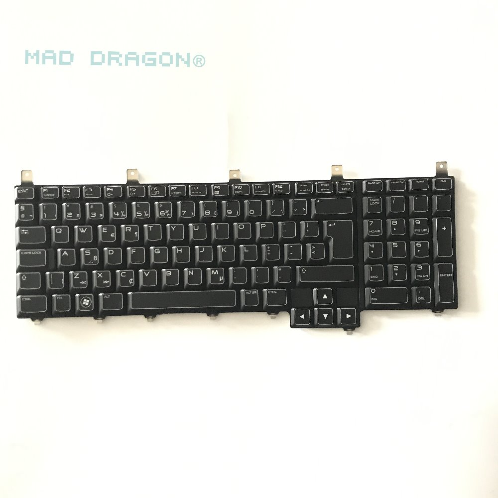 MAD DRAGON new original laptop parts for for Dell Alienware M17X R4 M18X R2 Keyboard Backlit NLZ 0HKWH NSK-D8F08 Layout UK original free shipping laptop internal speaker for dell alienware m18x r1 r2 left and right