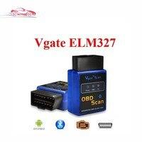 Best selling New MINI ELM 327 Bluetooth Vgate Varredura OBD2/avançado obd scan Scanner de Código de OBDII ELM327 V2.1