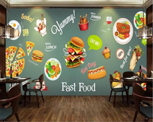 beibehang Large hand-painted high-definition fashion silk fabric 3d wallpaper Western Restaurant Design background