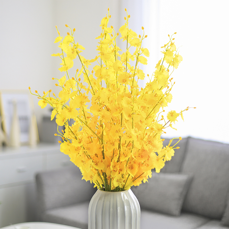 100cm Real Touch Orchid Flowers Artificial Bouquet for Home Decor Wedding Lead Way Flowers Christmas Decoration in Artificial Dried Flowers from Home Garden