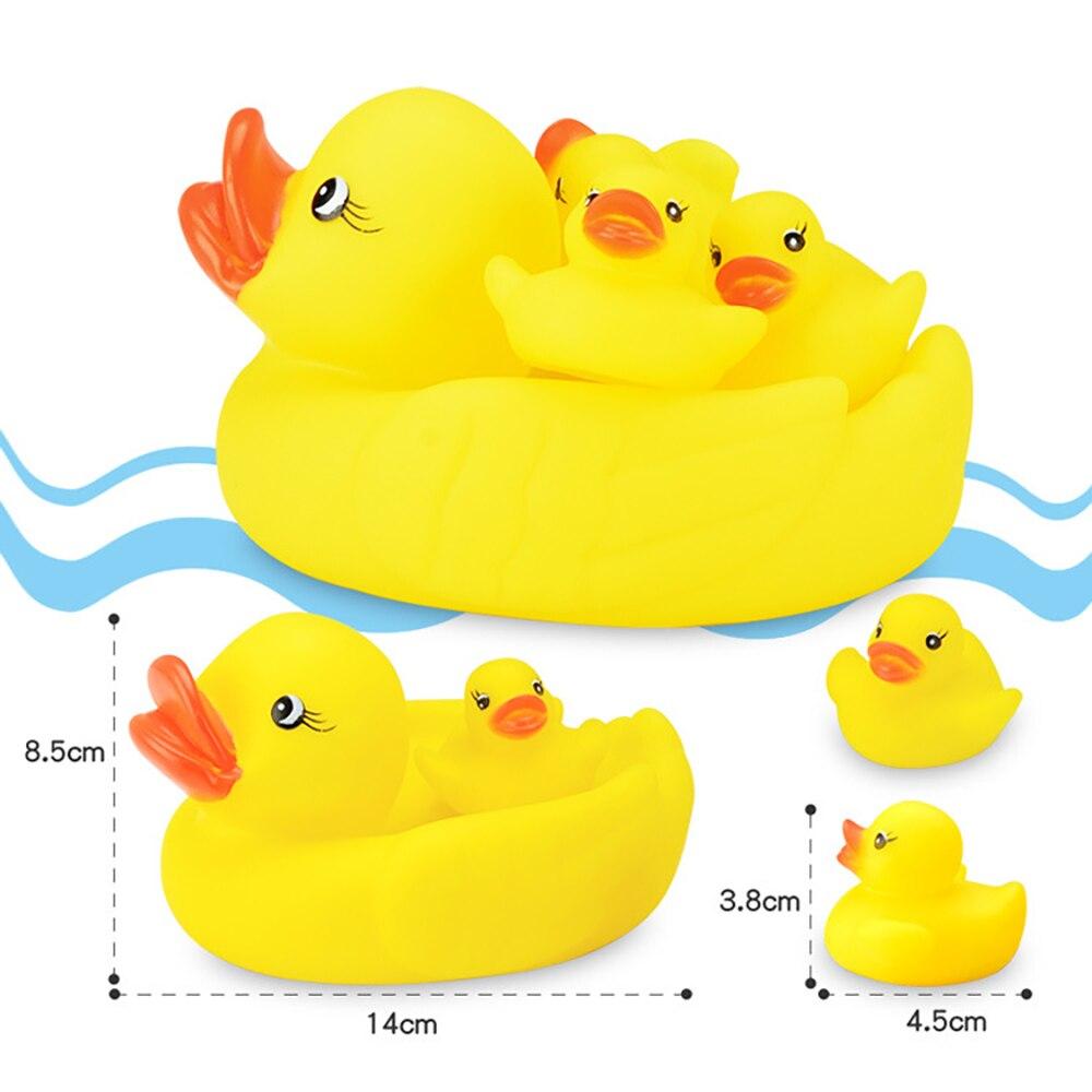 Conjunto de baño familiar de goma amarilla Yuanlebao Duck (juego de - Juguetes clásicos - foto 4