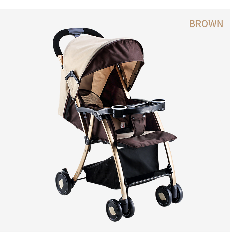 GL Baby Stroller Folding Umbrella Sit and Lie Portable Strong Alloy Steel Material 8