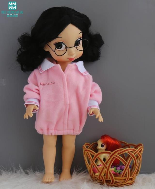 ملابس للدمى 35-40cm صالون دمية الوردي قميص عارضة لإعطاء الفتاة هدية