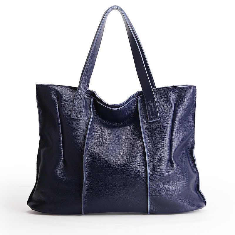 170fef6fd3ed Известный бренд для женщин курьерские Сумки Большой Дамы Сумка 100% пояса  из натуральной кожи сумка