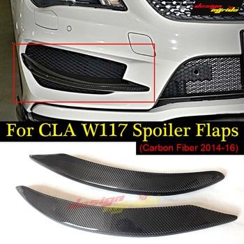 1Pair Car Carbon Fiber Front Bumper Splitter Spoilers Canard for Mercedes SportsW117 C117 X117 CLA200 CLA250 CLA45 for Amg 13-16