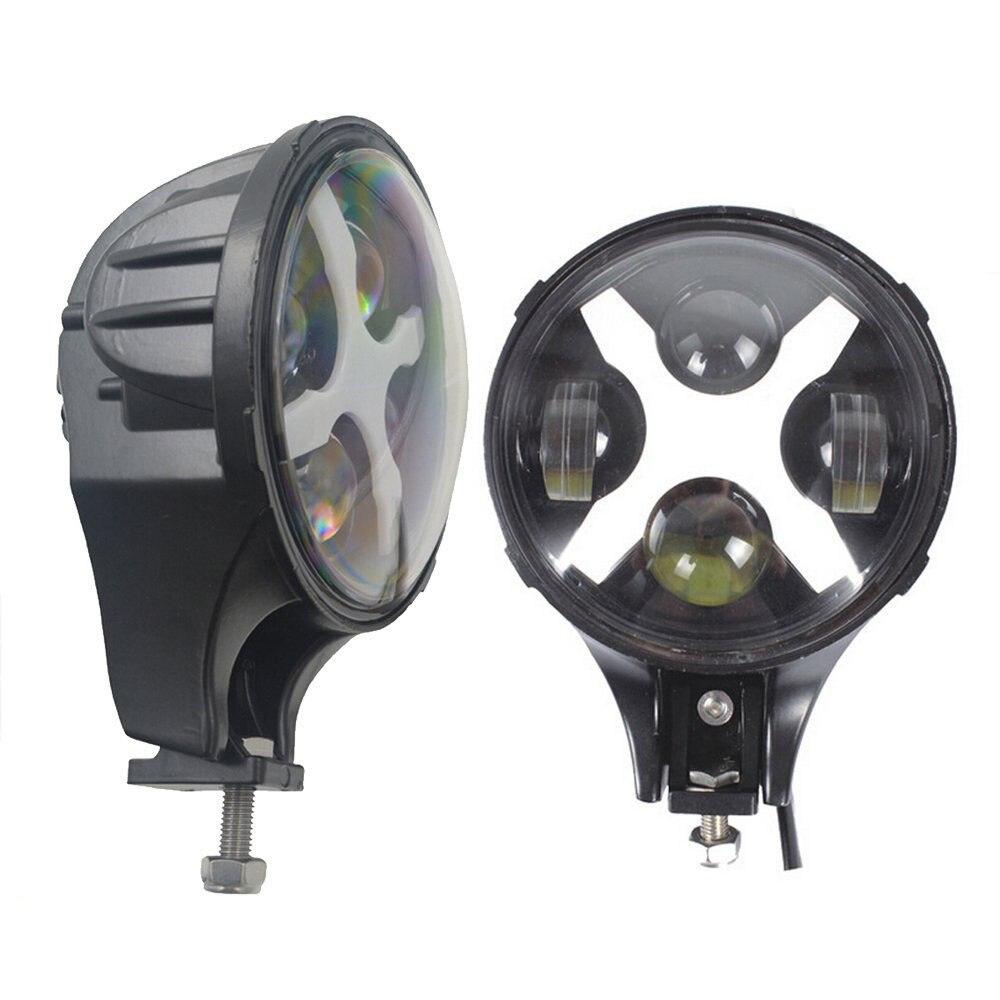 6 Inch LED Headlights Eagle Light Hi/Lo Beam Halo Ring Angel Eyes X DRL for Offroad Jeep Wrangler Front Bumper Fog Light