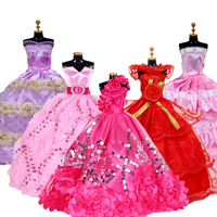 27pcs/Set Difference Style 28 30cm Fashion Party Girl Doll Accessories Clothes Mini Skirt Dress Toys Kids Gift Doll Accessories