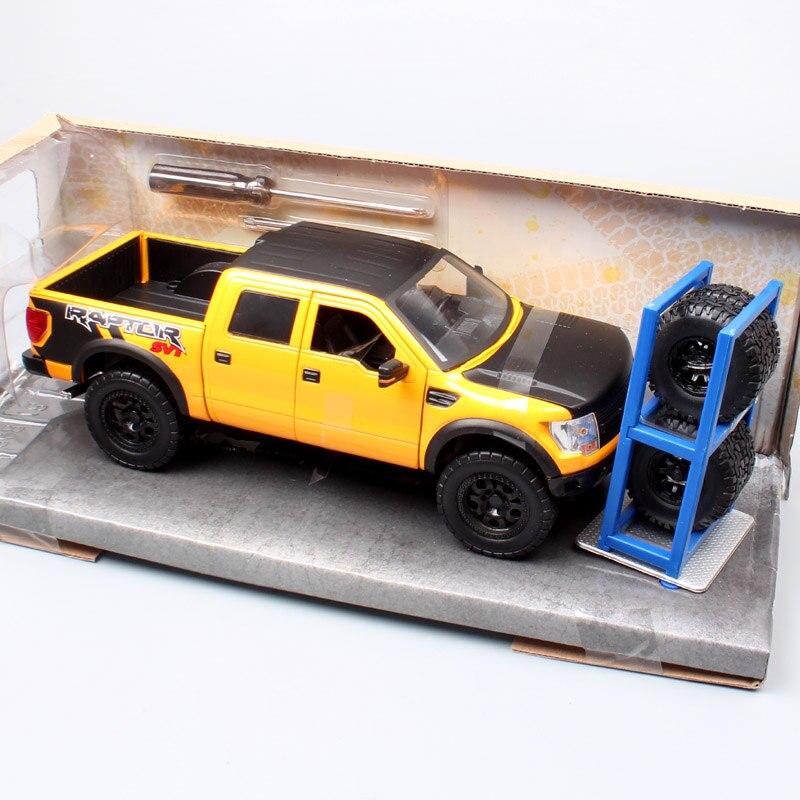 Camión de juguete y Diecast para niños, camioneta, 1/24, Ford F-150, SVT, Raptor, Lobo, vehículos de juguete a escala metálica, juguete de modelo de coche en miniatura para niños Jada-simulador de Metal clásico, juguete de aleación fundida, coches de juguete clásicos para niños, colección de regalos de cumpleaños 1:24