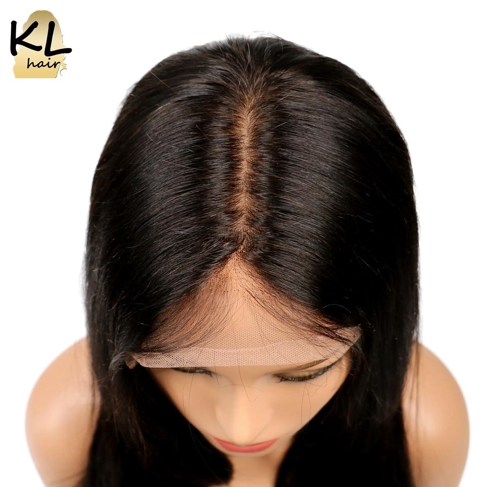 KL Hair Short Bob Silk Base Wigs Brazilian Remy Hair Straight Silk Base Lace Front Human