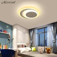 2018 Stars kids Acrylic LED Ceiling Lights for boy girl bedroom remote control modern led lamp Decorative light color change