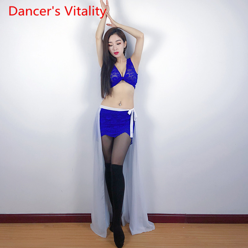 Belly Dance Exercise Clothes 2019 New Performing Dress Dance Dress Adult Top Skirt Suit M L
