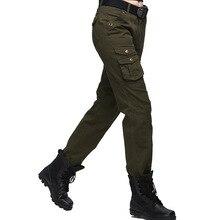 Pantalones tácticos militares Cargo pantalones multibolsillos Mujer  Pantalones Casual ejército pantalones con cordón 2d5d45d2a921