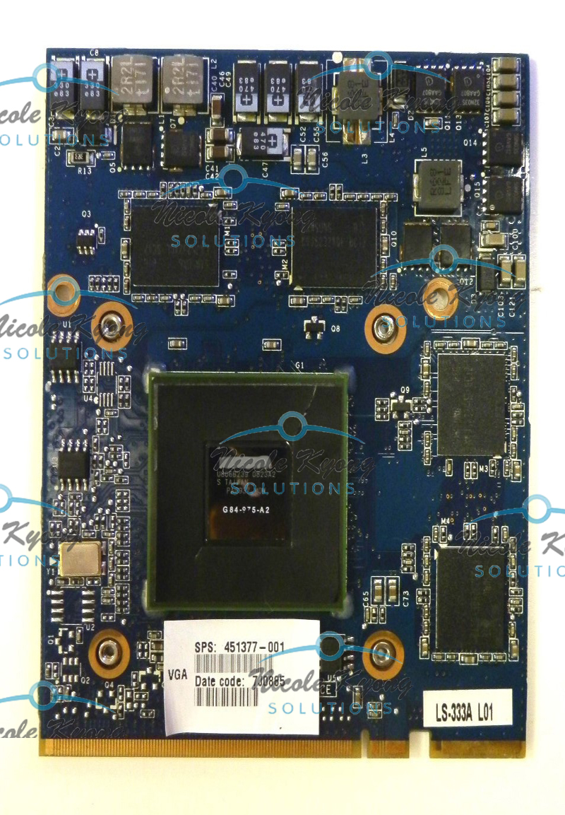 LS-333AP FX 1600M FX1600 FX1600M G84 975 A2 451377-001 MXM HE VGA Video Card For HP Mobile Workstation 8710P 8710W