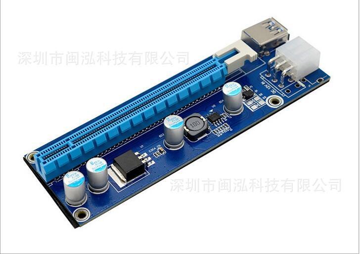 USB 3.0 pci-e PCIe Express 1x к 16x Расширенный riser адаптера добыча преобразования провода SATA 15pin штекерным 6pin мощность кабель 60 см