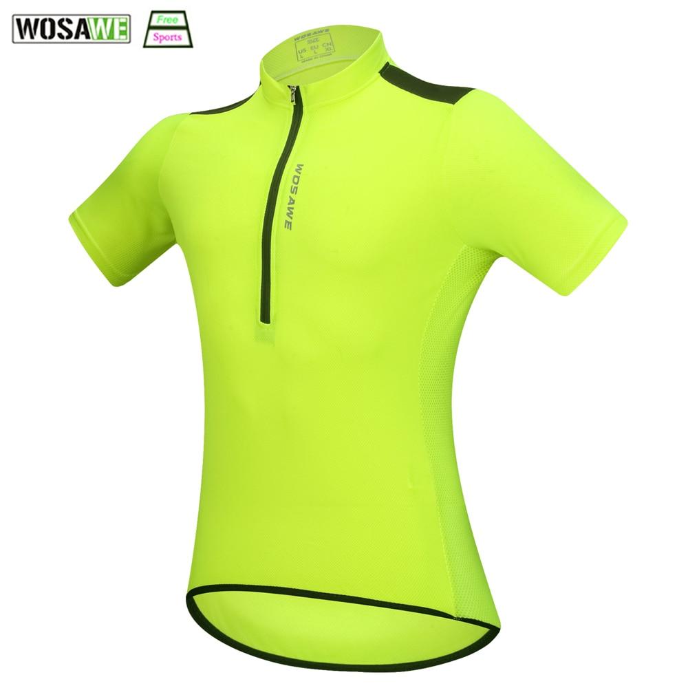 WOSAWE Radfahren Jersey Für männer weibliche Sommer Racing Mountainbike Kleidung Reflektierende Downhill Fahrrad Bike Hemd Downhill Jersey