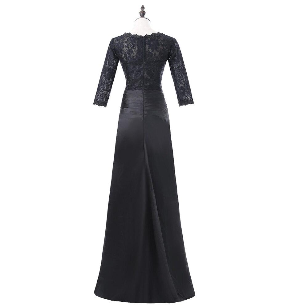 Noir 2019 mère de la mariée robes sirène 3/4 manches dentelle grande taille marié mère robes longues robes de soirée pour les mariages - 4