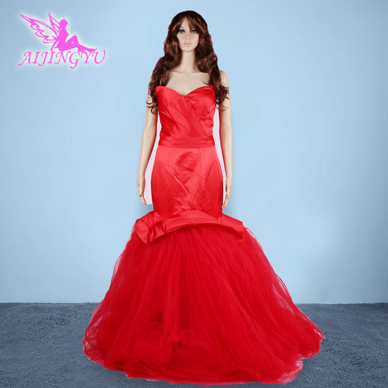 AIJINGYU 2018 new free shipping red sexy women girl mermaid wedding dresses china lush married wedding