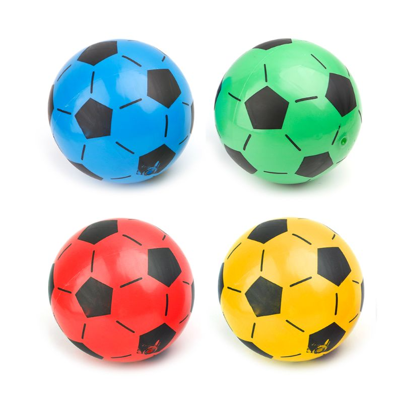 1Pc 20cm Children Soccer Ball Kid Gift Training Inflatable PVC Football Elastic Balls Soccer Accessory