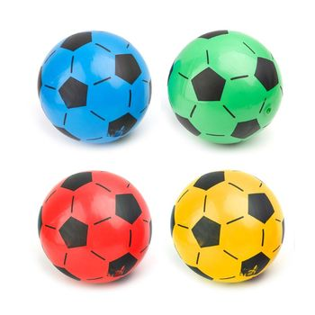 1Pc 20cm Children Soccer Ball Kid Gift Training Inflatable PVC Football Elastic Balls Soccer Accessory inflatable football ball inflatable soccer ball game for adults and kids