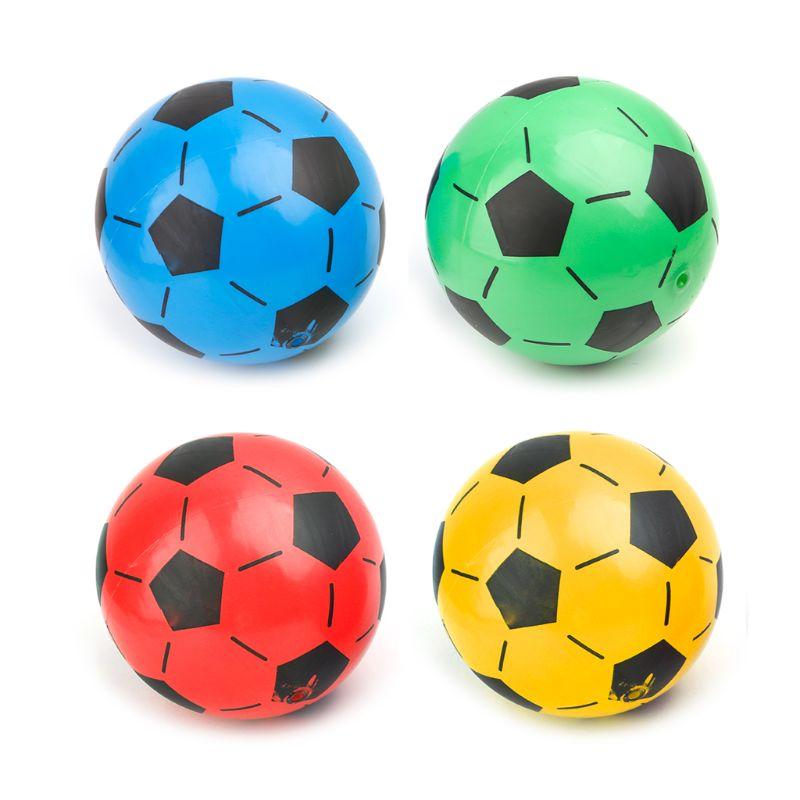 Bola de futebol infantil e infantil, acessório inflável para treino em pvc, bolas elásticas de futebol, 1 peça, 20cm