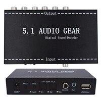 5.1 Audio Gear Digital Sound Decoder Audio Converter 3.5mm Audio Output Support 192khz Surround Rush For TV DVD PS3 US/EU plug