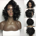 Bob Short Human Hair Wigs Loose Curly Lace Front Wigs Peruvain Virgin Hair Full Lace Human Hair Bob Wigs With Baby Hair On Sale