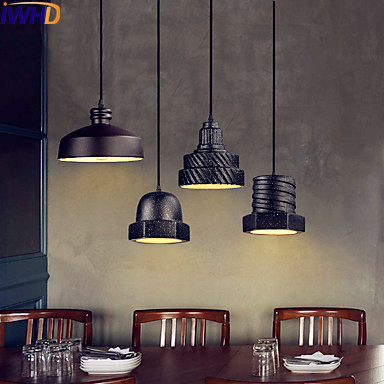 IWHD Ceramic Retro Vintage Pendant Light Fixtur Bar Cafe Loft Industrial Pendant Lights Lamp LED Lamparas De Techo Lampen loft industrial rust ceramics hanging lamp vintage pendant lamp cafe bar edison retro iron lighting