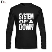 Fashion Cotton System Of A Down SOAD T Shirt Men Male Custom Long Sleeve EAGLES OVERCOME