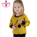 Campure 100%Cotton Black Yellow Sweater 2016 Cherry Pattern Children Warm Tops Kids Boys and Girls Long Sleeve Pullovers Sweater