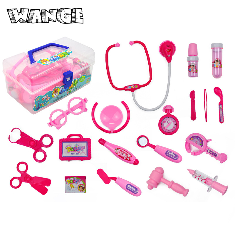 WANGE Classic Doctor Toys Play Childrens Toys Doctor Set Gifts Kids Baby Medical Cosplay Dentist Nurse Simulation Medicine Box