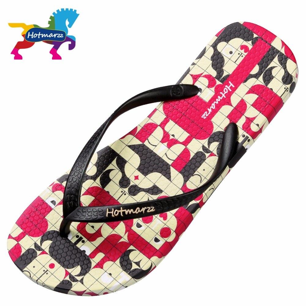 f55d6f824b182 Hotmarzz Women Flat Flip Flops Face Mosaic Summer Ladies Soft Slippers  Lightweight Beach Sandals Bathroom Slides-in Flip Flops from Shoes on  Aliexpress.com ...