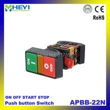10 ШТ. НА OFF START STOP Кнопка со Световой Индикатор Мгновенный Выключатель Красный Green Power APBB-30N