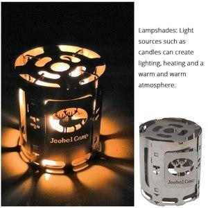 Image 3 - Titanium Alloy Folding Wood Stove Multifuel BBQ Camping Outdoor Burners Portable Alcohol Lantern Picnic Firewood