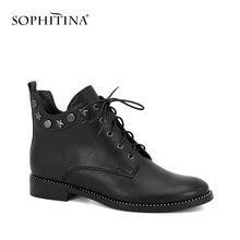 Sophitina/Уникальные Брендовые ботильоны; Женская обувь из натуральной