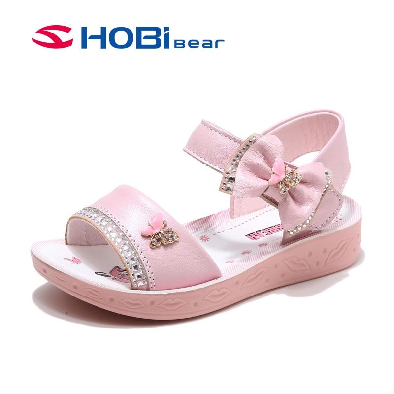 d7566e20002 HOBIBEAR Κορίτσια Sandals Πεταλούδα Kids Δερμάτινα Καλοκαίρι ...