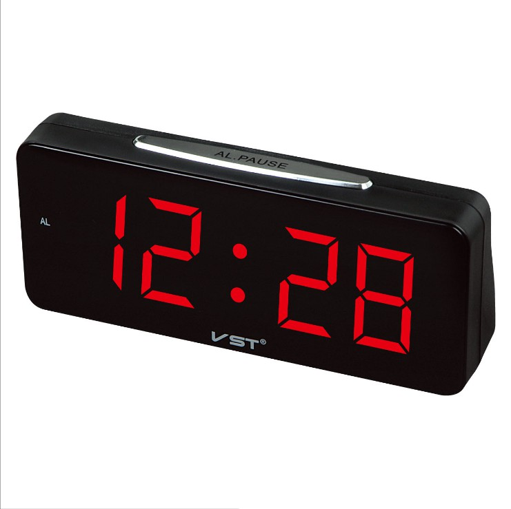 2020 Big Numbers Digital Alarm Clocks USB Plug AC Power Electronic Table Clocks With Large LED Office Desktop Clock VST-763 image