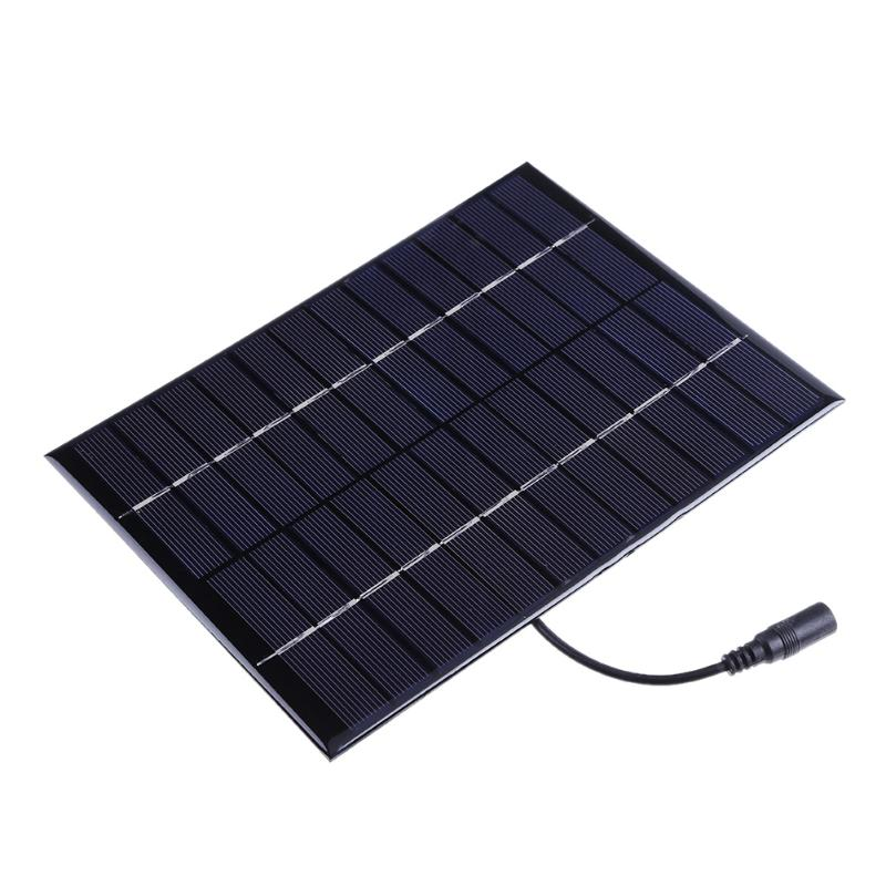Alloyseed 5.2W 12V Solar Power Panel DC Output Battery Charger Panel Board DIY Solar Charger Set for Low Power Lighting System