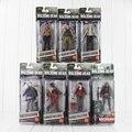 АМС Серии Фрэнк NECA The Walking Dead Авраам Ford/Банджи Walker/Рик Граймс/Губернатор/Michonne ПВХ Действий рис.