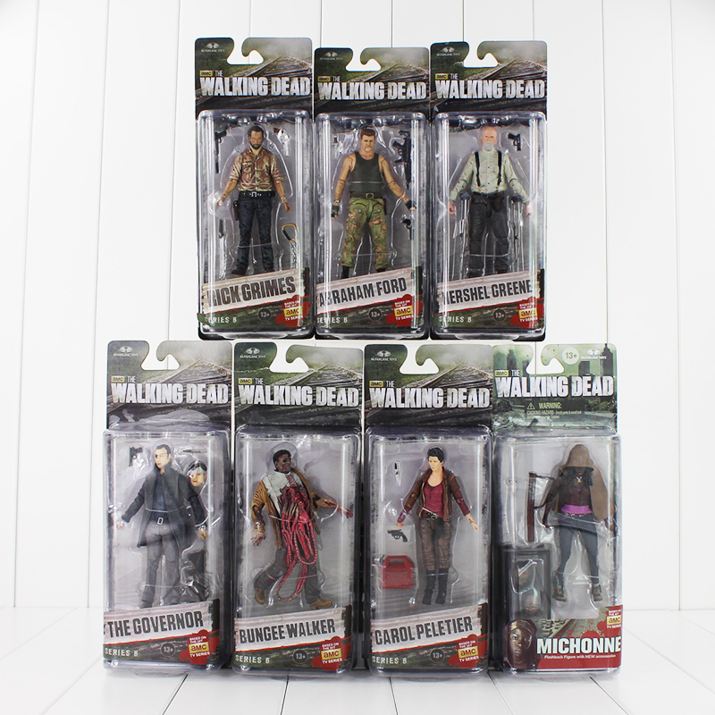 AMC Series Frank NECA The Walking Dead Abraham Ford / Bungee Walker / Rick Grimes / The Governor / Michonne PVC Action Figure