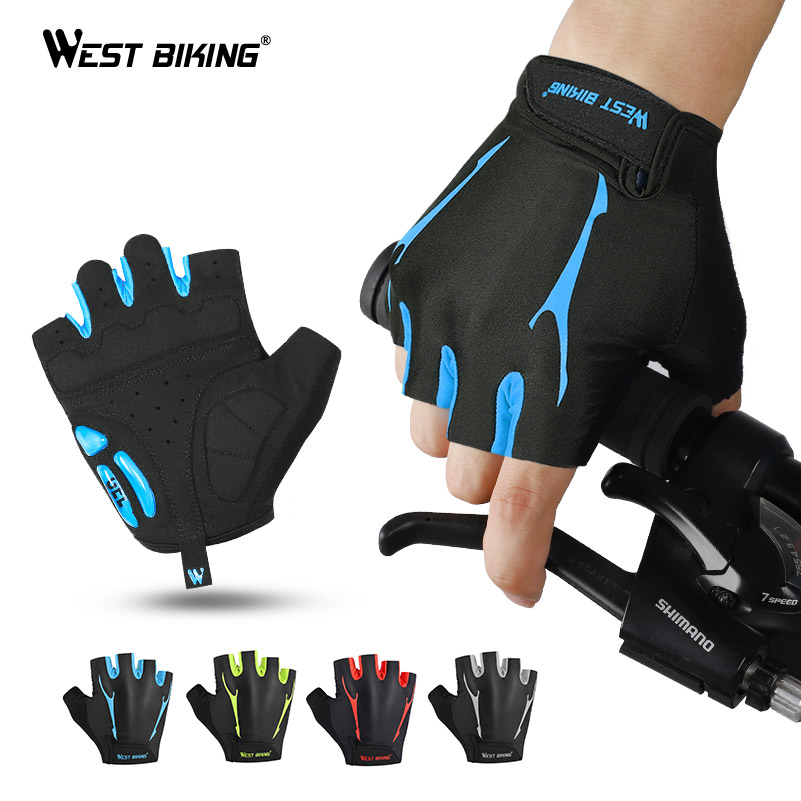 Antiskid Cycling Gloves MTB Bike Bicycle Mitts Breathable Sports Half Finger