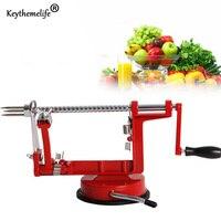 1 pc 3 in 1 Apple Peeler Stainless Steel Fruit Peeler Slicing Machine Pear Apple Peeled Creative Kitchen Cutter Zester CF