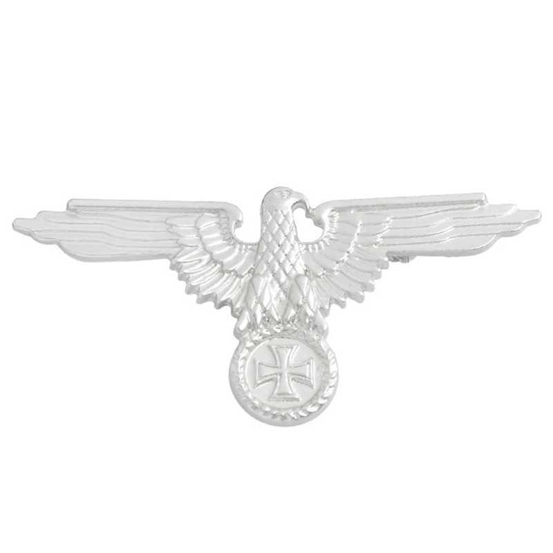 Militer Jerman Eagle Emas/Perak Bros Lencana Kerah Pin Bros Cap Cockatiel Pria Perhiasan
