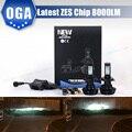 OGA 2 PCS 8000LM Para ZES chips Carro LEVOU Kit De Conversão Farol H4 HB2 9003 H7 H8 H9 H11 H13 9004 9005 HB3 HB4 9006 9007