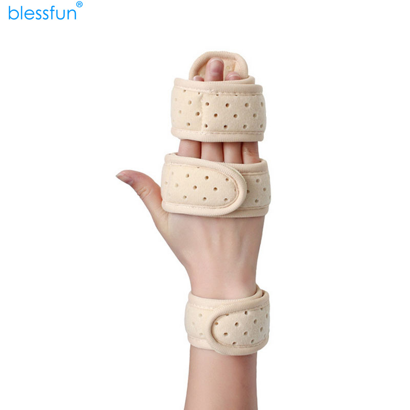 new Wrist Bands Support Brace Hand Finger Splint Breathable Velvet Aluminum Fixator Carpal Tunnel Syndrome Fracture Arthritis