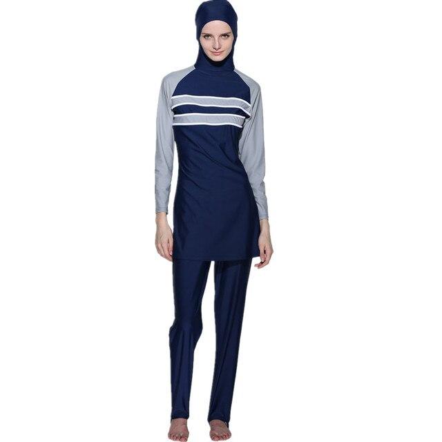 4XL-S Moslim Zwempak Islam Zwemmen Kleding Vrouwen Islamitische Badpak Adulte Islamitische Badmode Vrouwen Plus marineblauw